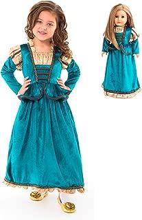 Little Adventures Scottish Princess Dress Up Costume & Matching Doll Dress (Medium (Age 3-5))