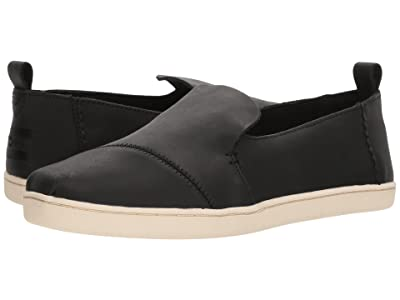 TOMS Deconstructed Alpargata (Black Leather) Women