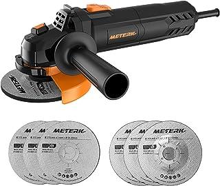 comprar comparacion Amoladora Angular, Meterk Multi-function Amoladora 750W de 115 mm y 12000 RPM con 6 Ruedas Esmerilar/Pulir/Cortar, 1 Cubie...