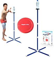 GIGGLE N GO Outdoor Games for Family - Yard Games for Adults and Kids - The Highly Addictive Knockoff Toss Frisbee Game - Ours is The Only One You Can Play on All 3 Surfaces, Sand, Concrete or Lawn