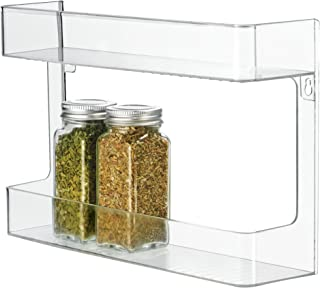 iDesign Linus Plastic Wall Mount Stadium Spice Rack, 2 Organizer for Kitchen Pantry, Cabinet, Countertops, Vanity, Office, Craft Room, 2.62