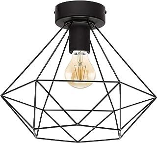 Lámpara de techo EGLO TARBES, lámpara de techo vintage con 1 bombilla de estilo retro, material: acero, color: negro, casquillo: E27