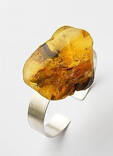 Armband Bernstein Armreif ORANGE GELB Silber 925 NEU- UNIKAT 20124