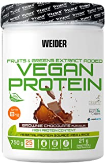Joe Weider Vegan Protein, 750 g Dose (Brownie-Schoko)