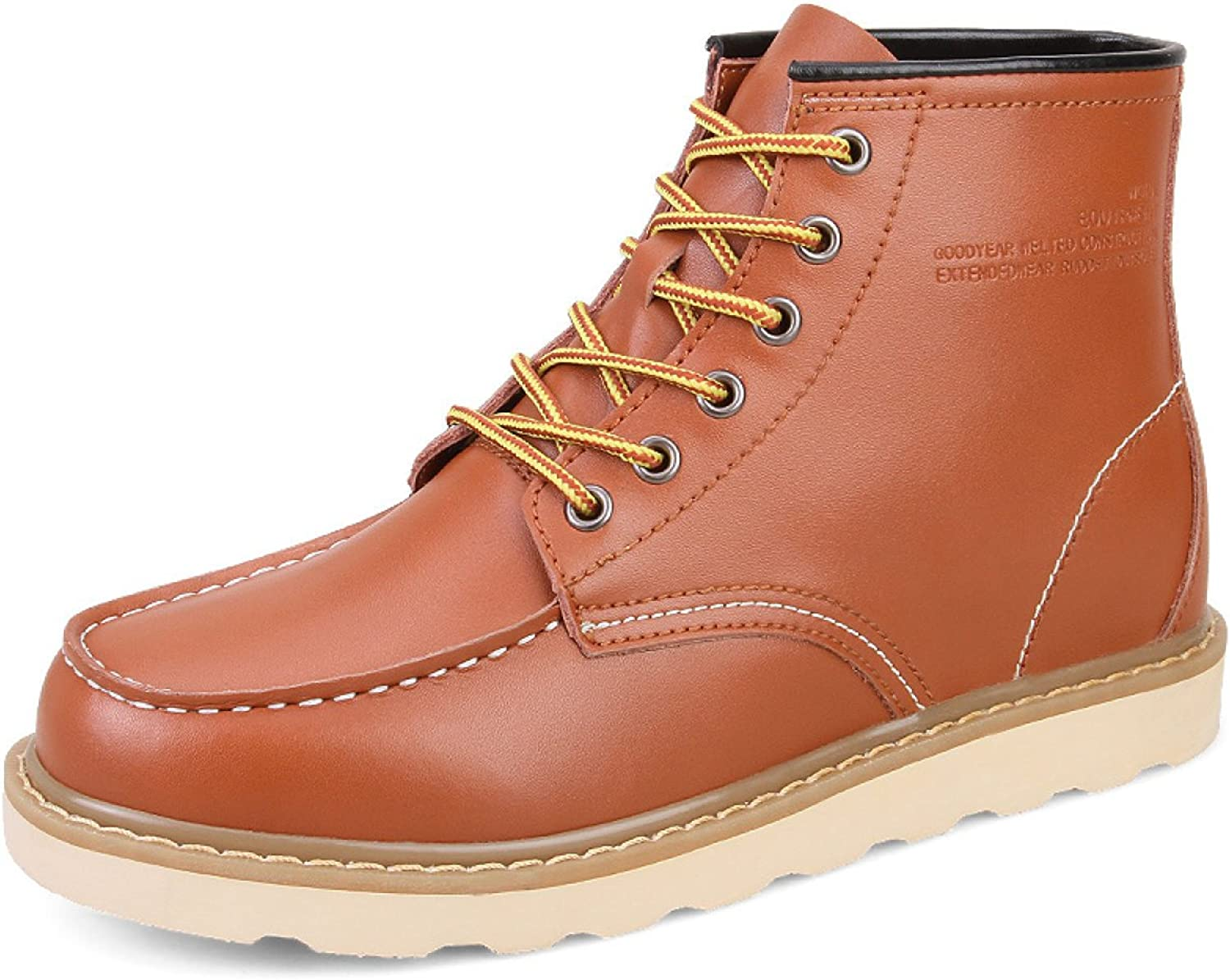Autumn And Winter Boots Men Leather Tooling Boots High-top Casual shoes Increased Within The Men's shoes