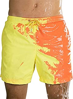 Amazing Color Changing Beach Shorts Summer Swimming Trunks Quick Dry Beach Pant for Men's Beach Swim Male Briefs,