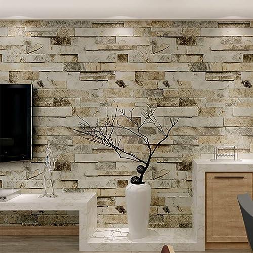 4be9c6d4cbf HANMERO® Murales de pared papel pintado imitación ladrillo piedras papel de  pared dormitorios/salón