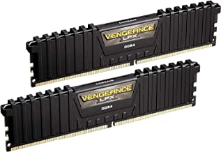 Corsair Vengeance LPX 16GB (2x8GB) DDR4 DRAM 3000MHz C15 Desktop Memory Kit – Black..