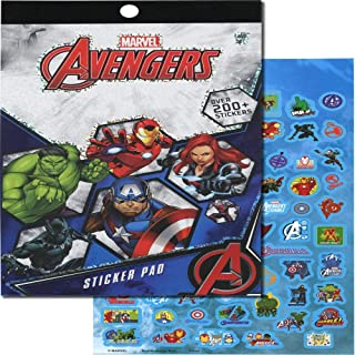 Marvel Avengers Sticker Pad 4 Sheets/Pack Over 200pcs Arts & Crafts Decorative Stationery Collection Multicolored Superher...