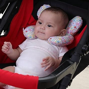 Kopfst/ützkissen f/ür Neugeborene Autositzeinlage mit Nackenst/ütze f/ür Babyschale und Kinderwagen vocheer Baby-Kinderwagen-Kissen