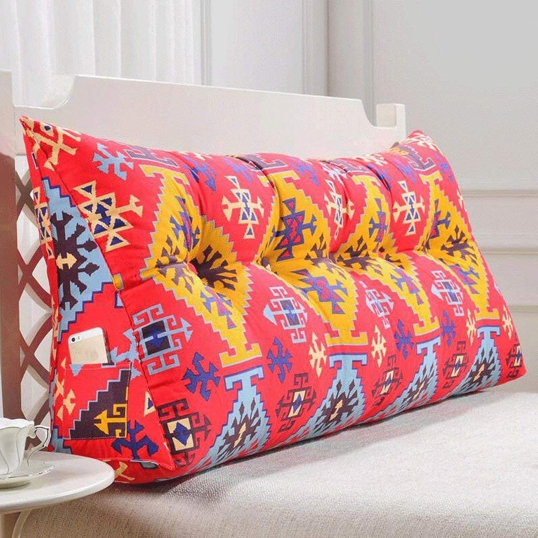 EU8 Dos et taille ergonomiques de coussin d'appui-tête de sofa avec la housse lavable, garniture 3D en coton de perle élastique élevée (Couleur   3 , Taille   200cm)