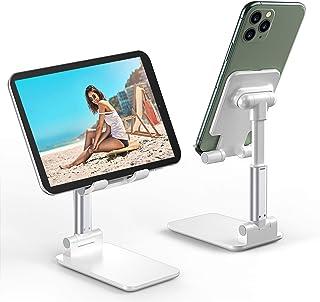 Soporte Teléfono Móvil Soporte Tablet Portátil Soporte Móvil Mesa Plegable Ajustable En Altura,Adecuado Para Dispositivos iPad 11 Pro, iPhone 11 Pro / XR / X / XS / 8 Plus De Menos De 12,9 Pulgadas