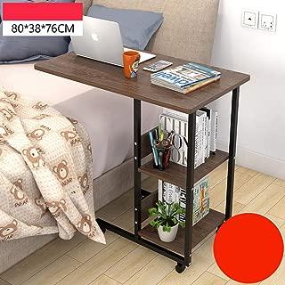 可動 Overbed 表 ホイール付き,高さ調節可能 コンピュータデスク,読ん 書い ラップトップ テーブル 病院 ベッド テーブル 本棚-v 80x38x76cm(31x15x30inch)