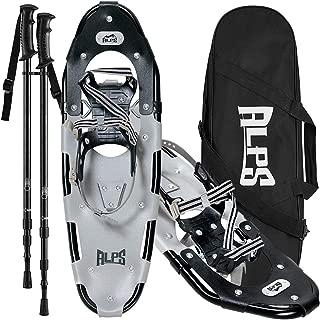 ALPS Lightweight Men Snowshoes kit +Trekking Poles,Carrying Tote 21