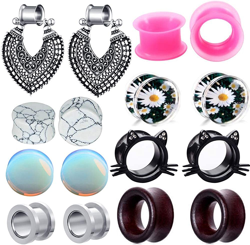 TIANCI FBYJS Max 89% OFF 8 Pairs Ear Tunnels Gau Woman depot Dangle Steel Surgical