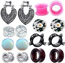Cup of tea earrings Stacked cups earrings Tunnel earrings Cute earrings Gauged earrings 16g 14g 12g 10g 8g 6g 4g 2 gauge 0g 00g 716 12
