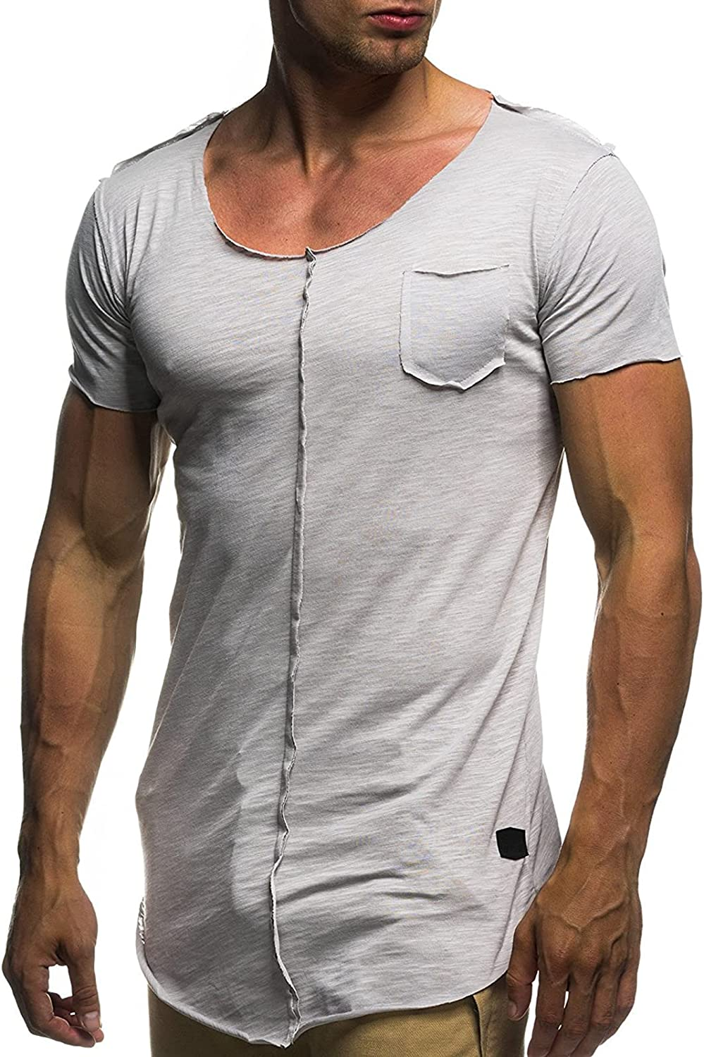 Men's Athletic Shirts Cheap Brand new SALE Start Muscle Hipster Sleeve Short Fashion Ca Gym