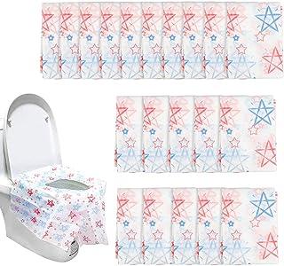 Dadabig 20 Pack protector wc Desechable Fundas de Asiento de Inodoro Desechables Viajes Seguridad Alfombrilla para Tapa de Inodoro para Bebé,Embarazadas,Baño Público
