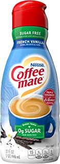 COFFEE MATE Sugar Free French Vanilla Liquid Coffee Creamer 32 fl. oz. Bottle Non-dairy, Lactose Free, Gluten Free Creamer