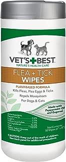 Vet's Best Flea + Tick Wipes, 50 ct