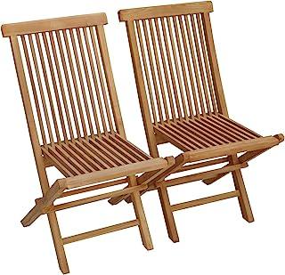 Amazon.es: sillas plegables madera jardin