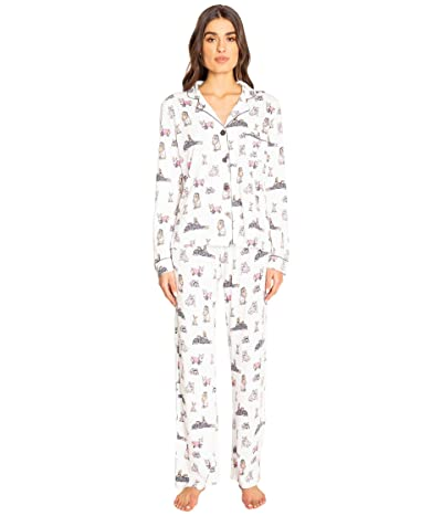 P.J. Salvage Playful Prints PJ Set (Ivory) Women