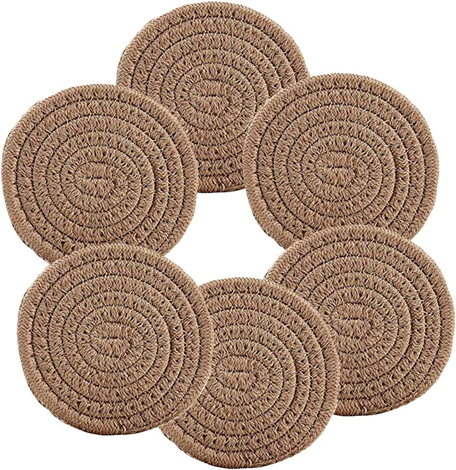 Braided Coasters for Farmhous Absorbent Drinks Max Branded goods 77% OFF