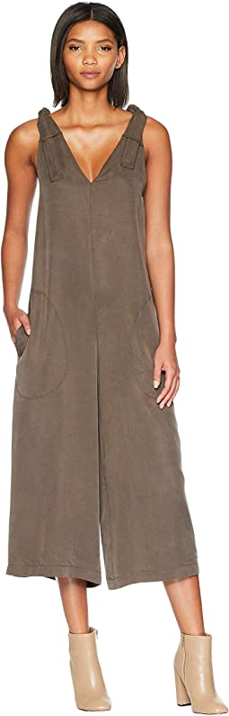 Shoulder Tie Culotte Jumpsuit