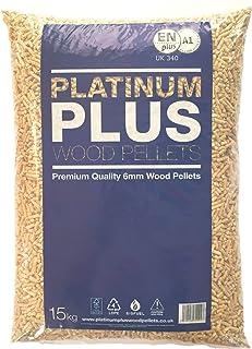 Platinum Plus Pellets de Madera 6mm EnplusA1 Pellets de biomasa 1x 15Kg