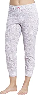 Rosch 1884153-11913 Women's Smart Casual Everyday Grey Floral Cotton Pyjama Pant