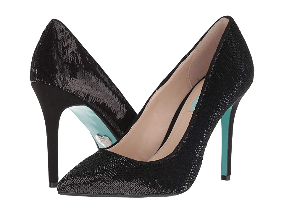 Blue by Betsey Johnson Lani (Black Sequins) High Heels