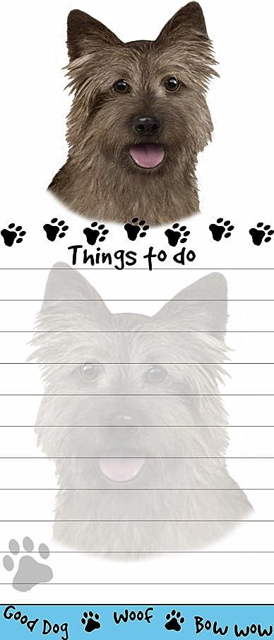 また明日ねブリーク過ちCairn Terrier Magnetic List Pads Uniquely Shaped Sticky Notepad Measures 8.5 by 3.5 Inches by E&S Pets