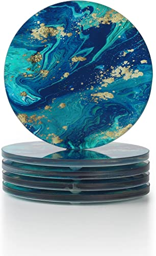 lowest WORHE popular Galaxy Acrylic Coaster Set of 5, Universe Milky Way lowest Acrylic Drink Coaster for Table Protection, Housewarming Gift, Bar Coaster Constant Temperature(YGC011) online sale