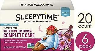 Celestial Seasonings Wellness Tea, Sleepytime Echinacea Complete Care, 20 Count Box (Pack Of 6)