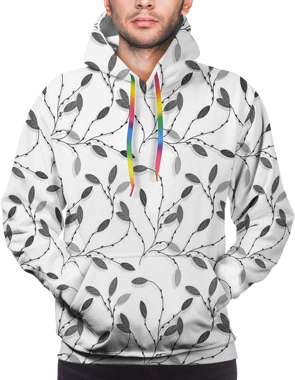 TENJONE Men's Hoodies Sweatshirts,Contemporary Geometrical Design Science Themed Artful Shapes