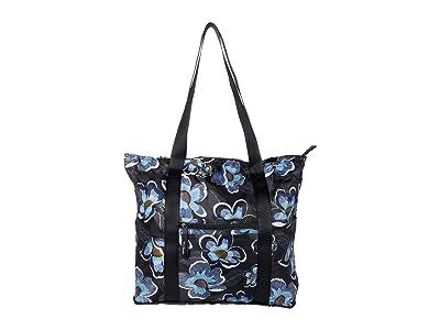Vera Bradley Packable Tote (Blooms Shower Black) Tote Handbags