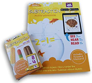 Subtraction Discovery Workbook with Reward Stickers and Flash Card Bundle - Grade 1