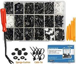 TiaoBug 170Pcs Screw /& U Type Fender Panel Retaining Clips Assortment Kit Fastener for Dash Door Panel Interior SAE with Storage Case Black One Size
