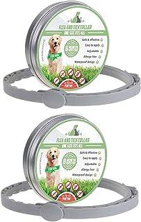 MENGZF Collar Antiparasitario para Perros y Gatos,(2 Piezas) Collares Antipulgas y Garrapatas Aju...