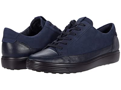 ECCO Soft 7 Monochromatic Sneaker (Night Sky/Night Sky Cow Leather/Cow Nubuck) Women