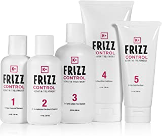 Keratin Treatment - Amazing Hair Straightening Home Kit Comes w/ Keratin Hair Shampoo, Conditioner, and Hydration Mask. Formaldehyde Free. Easy to Follow Instructions, Only Takes 90 Mins. 110% No Frizz Guarantee - K+ Frizz Control