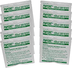 Pinpoint High-Precision +400mV ORP/REDOX Calibration Fluids Set (Buffer Solution), 10 Pouches