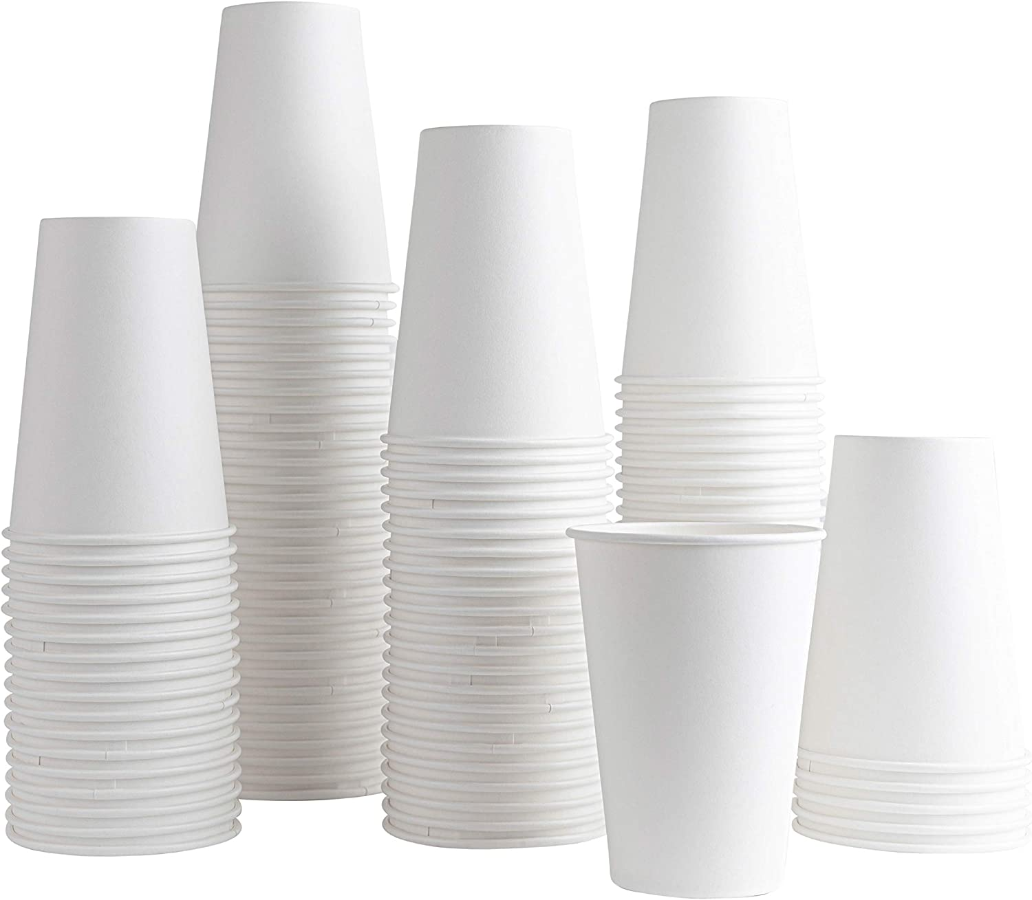 [100 Pack] 8 ounce Paper Hot Cups Disposable Coffee Cup for Bathroom, Espresso, Mouthwash, Cold, or Hot Drinks, Tea, Coffee, Hot choclate