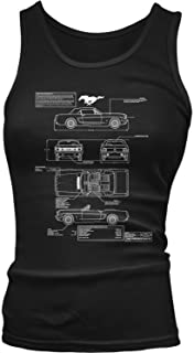 Amdesco Junior's 1966 Ford Mustang GT Blueprints Tank Top