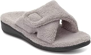 Vionic Women s Indulge Relax Slippers  House Shoes with Concealed Orthotic Support - Light Grey 8M