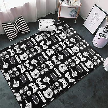 Large Area Rug Dining Room Living Room Bedroom Carpet Luxury Non-Skid Super Soft Floor Carpet Machine Washable Rug 5' x 7