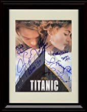 Framed Titanic Autograph Replica Print - Cast Signed Movie Poster - Winslett and Dicaprio