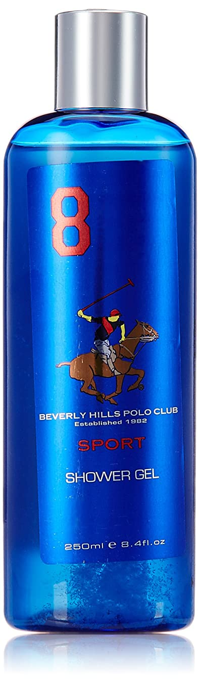 申し立て沈黙統計的Beverly Hills Polo Club Sports Shower Gel for Men, No 8, 250ml