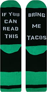 Women's If You Can Read This Funny Sayings Novelty Socks for Taco Lovers