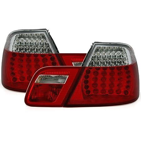 Carparts Online 12271 Led Rückleuchten Rot Schwarz Facelift Optik Auto